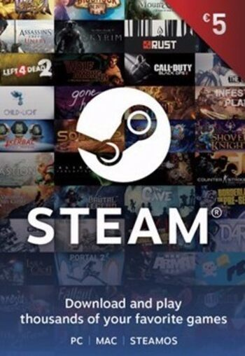 Tarjeta Regalo Steam 5 EUR Clave Steam GLOBAL