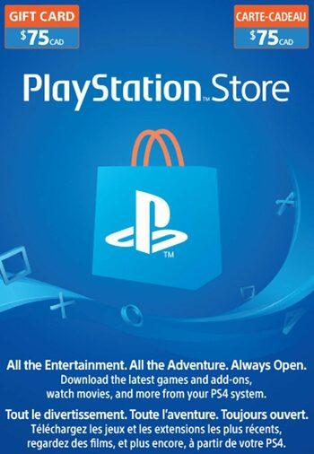 PlayStation Network Card 75 CAD PSN Key CANADA