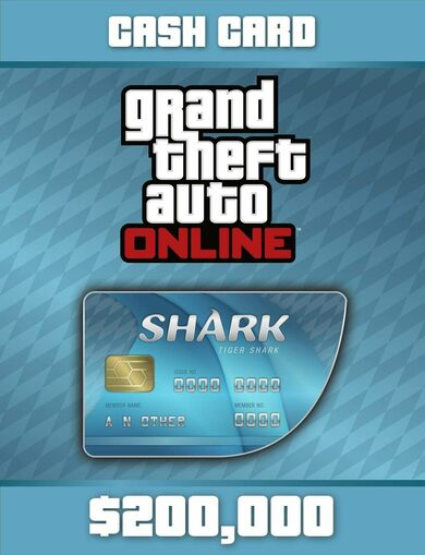 Grand Theft Auto Online: Tiger Shark Cash Card Rockstar Social Club Key GLOBAL