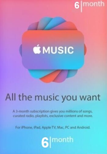 Apple Music Subscription 6 months TRIAL Key UNITED STATES