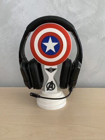 "Soporte Auriculares ""Capitán America"""