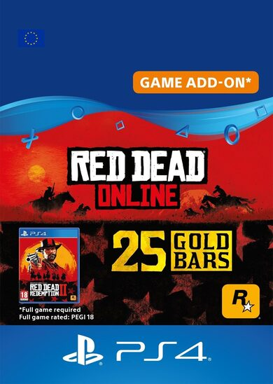 Red Dead Redemption 2 Online 25 Gold Bars (PS4) PSN Key EUROPE