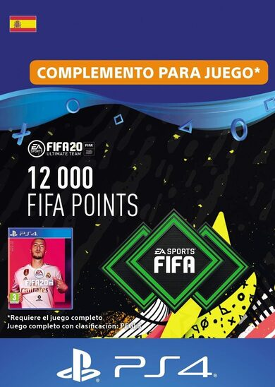 FIFA 20 - 12000 FUT Points (PS4) PSN Clave España