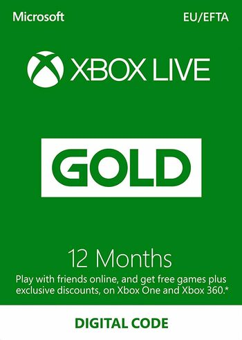 Xbox Live Gold 12 mesi Xbox Live Key EUROPE