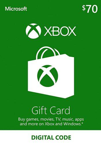 Tarjeta Regalo Xbox Live 70 USD USA Código Xbox Live Estados Unidos