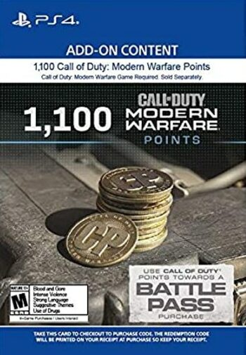 1100 Call of Duty: Modern Warfare Points (PS4) PSN Key UNITED STATES