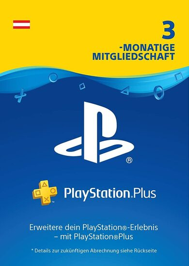 Playstation Plus Live Card 90 Tage PSN AT