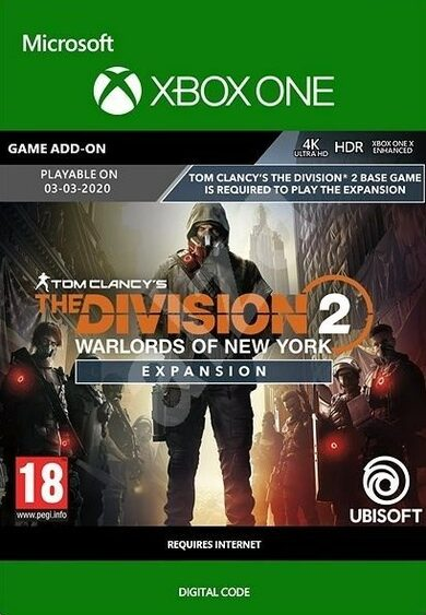 The Division 2 - Warlords of New York - Expansion (DLC) (Xbox One) Xbox Live Key GLOBAL
