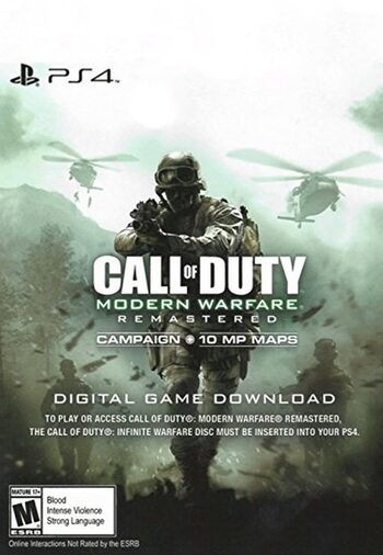 Call of Duty: Modern Warfare Remastered (PS4) PSN Key EUROPE
