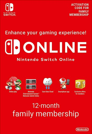 Nintendo Switch Online Family Membership - 12 Months eShop Key EUROPE