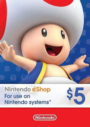 Nintendo eShop Card 5 CAD Key CANADA