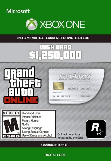 Grand Theft Auto Online: Great White Shark Cash Card (Xbox One) Xbox Live Key GLOBAL