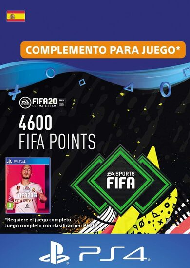 FIFA 20 - 4600 FUT Points (PS4) PSN Clave España