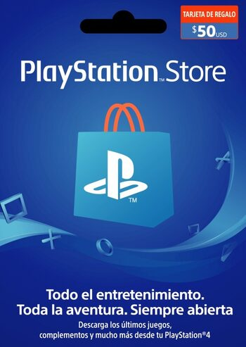 Tarjeta PlayStation Network Card 50 USD (CL) código PSN CHILE