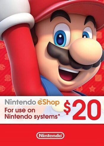 Nintendo eShop Card 20 USD Key UNITED STATES