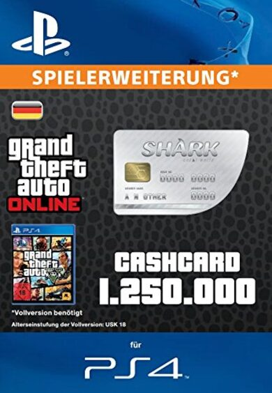 Grand Theft Auto Online: Great White Shark Cash Card (PS4) PSN Key GERMANY