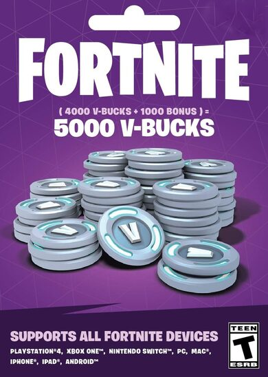 Fortnite - 5000 V-Bucks Gift Card Key GLOBAL