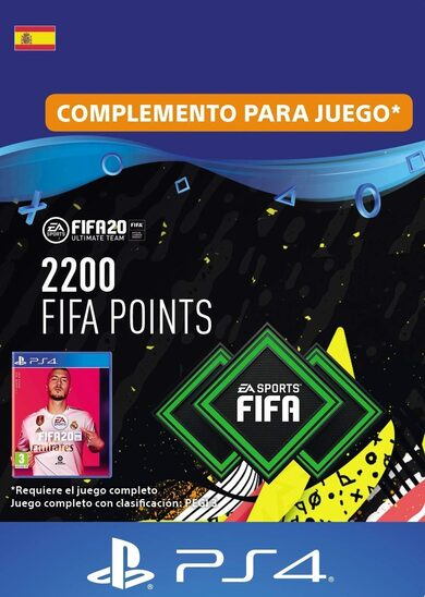 FIFA 20 - 2200 FUT Points (PS4) PSN Clave España