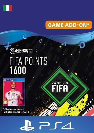 FIFA 20 - 1600 FUT Points (PS4) PSN Key ITALY