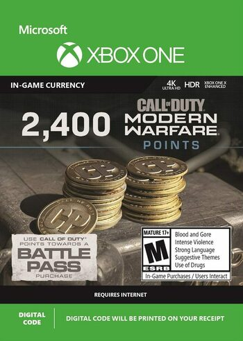 2400 Call of Duty: Modern Warfare Points (Xbox One) Xbox Live Key GLOBAL