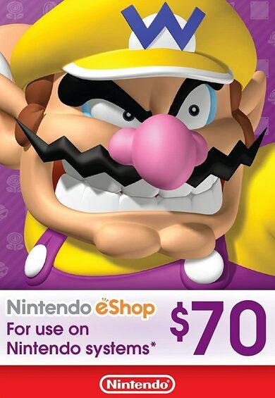 Nintendo eShop Card 70 USD Key UNITED STATES