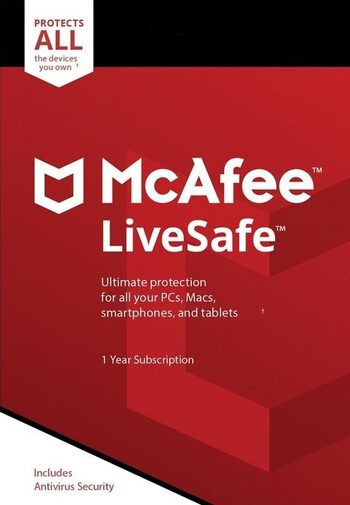 McAfee LiveSafe - Unlimited Devices 1 Year Key GLOBAL
