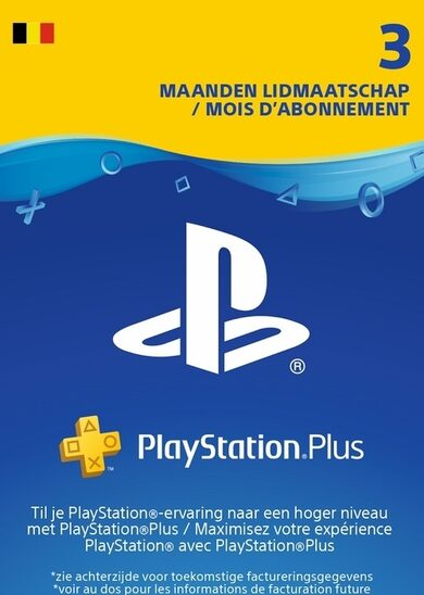 Playstation Plus Card 90 days (BE) PSN Key BÉLGICA