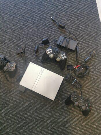 PlayStation 2 Slimline, Silver, 64MB atminties kortelė 3 Pultelis