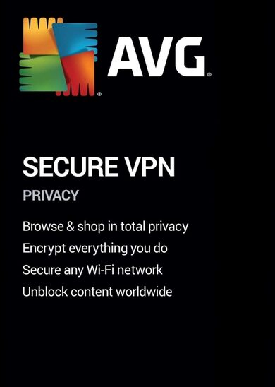 AVG Secure VPN 1 Device 1 Year AVG Key GLOBAL