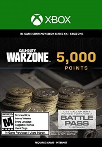 5,000 Call of Duty: Warzone Points XBOX LIVE Key GLOBAL