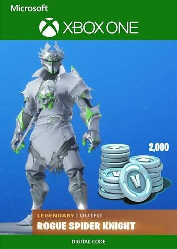 Fortnite: Rogue Spider Knight Bundle + 2000 V-Bucks (Xbox One) Xbox Live Clave GLOBAL