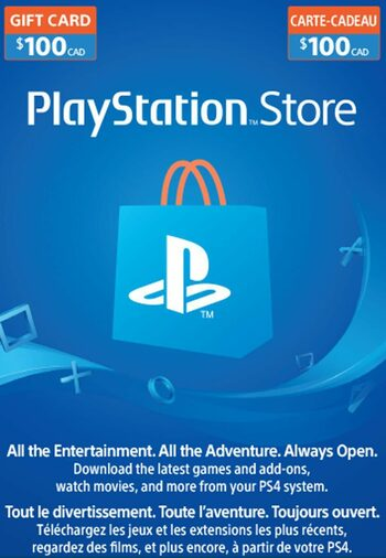 PlayStation Network Card 100 CAD PSN Key CANADA