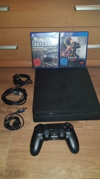 Parduodu PlayStation 4 Slim 500GB + Pultelis + 2 Žaidimai