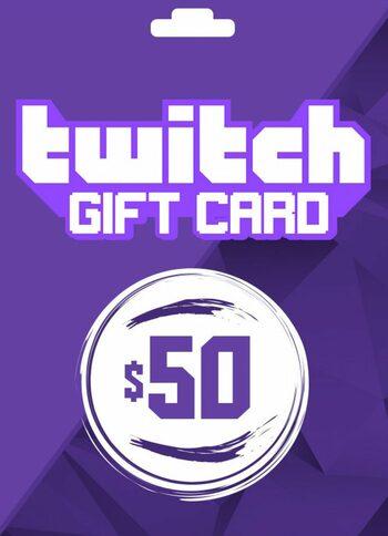 Twitch Gift Card 50 USD Key UNITED STATES