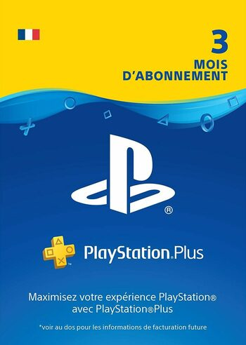 Carte PlayStation Plus de 90 jours (FR) Clé PSN FRANCE