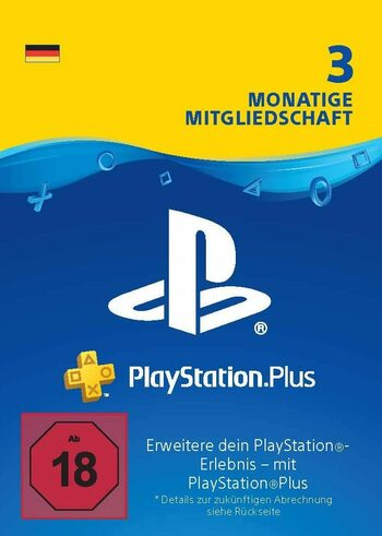 PlayStation Plus Card 90 Days (DE) PSN Key GERMANY