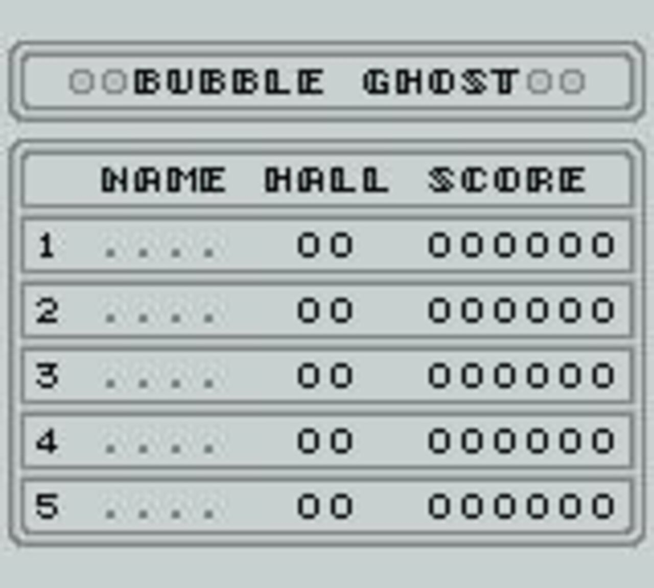 Bubble Ghost Game Boy