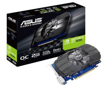 Asus GeForce GT 1030 2 GB 1266-1506 Mhz PCIe x16 GPU