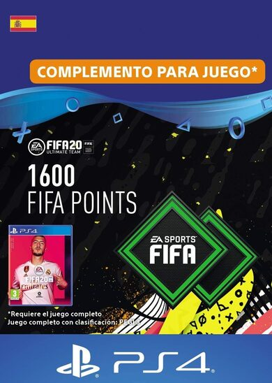 FIFA 20 - 1600 FUT Points (PS4) PSN Clave España