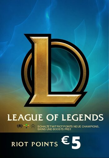 League of Legends Gift Card 5€ - 650 Riot Points / 450 Valorant Points - EU WEST Server Only