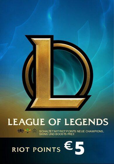 League of Legends Gift Card 5€ - 650 Riot Points / 450 Valorant Points - EU WEST Server Only