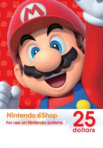 Nintendo eShop Card 25 USD Key NORTH AMERICA
