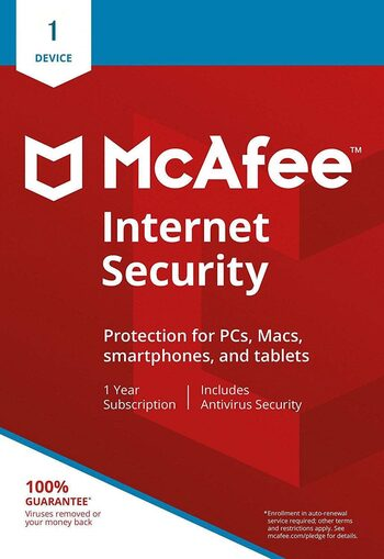 McAfee Internet Security 2021 1 Device 1 Year Key GLOBAL