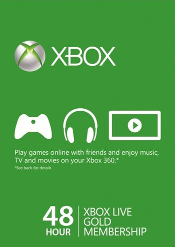 Xbox Live Gold 48 horas TRIAL Xbox Live clave GLOBAL