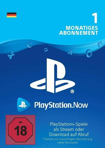 PlayStation Now 1 Month Subscription (DE) PSN Key GERMANY