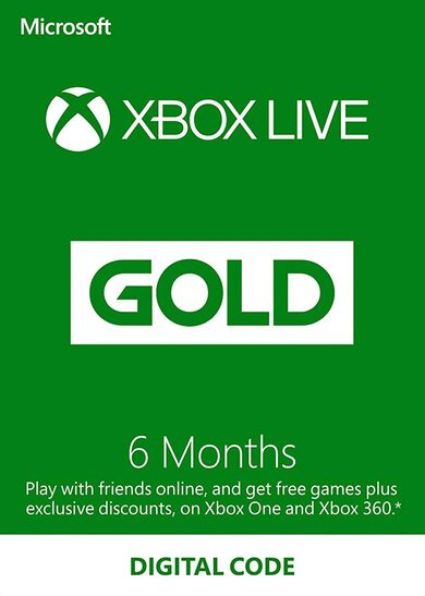 Xbox Live Gold 6 Monate Xbox Live key GLOBAL