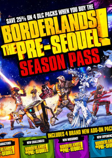 Borderlands: The Pre-Sequel - Season Pass (DLC) Steam Key EUROPE