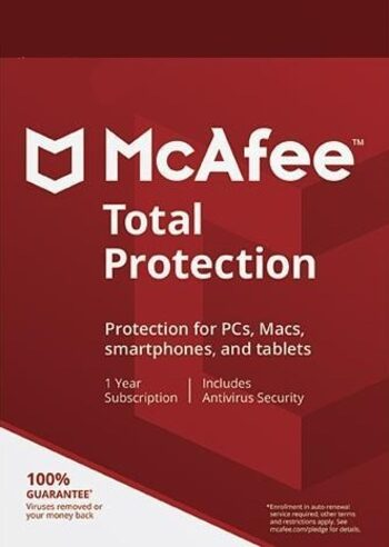 McAfee Total Protection 5 Devices 1 Year Multidevice McAfee Key GLOBAL