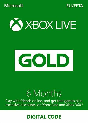 Xbox Live Gold 6 Monate Xbox Live key EUROPE