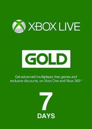 Xbox Live Gold 7 days  Xbox Live Key GLOBAL